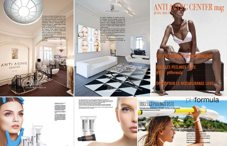 This month, the Anti-Aging Center, a Spa in Brussels, Belgium has dedicated its magazine entirely to pHformula http://antiaging-center.be/ #antiaging #Belgium