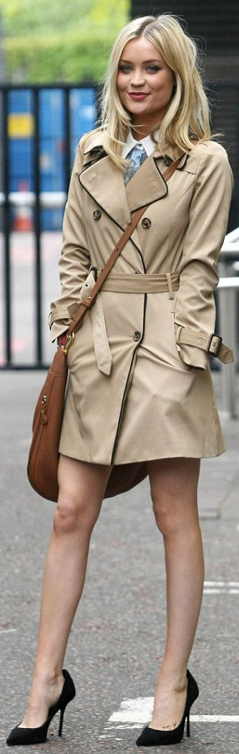 Laura Whitmore, perfect trench