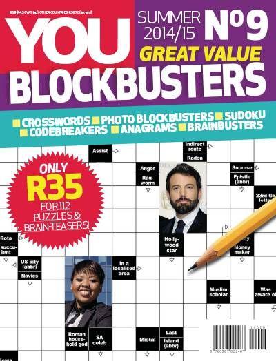 You Blockbuster Magazine. Crosswords. Puzzles. Games.