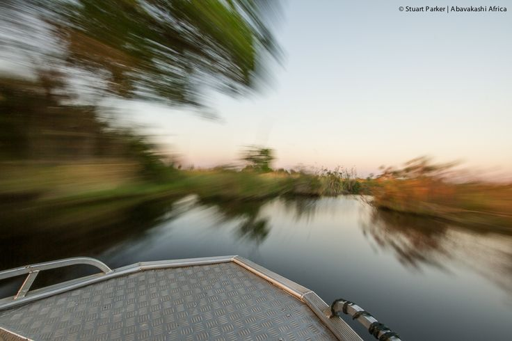 Navigating the Okavango Delta by boat