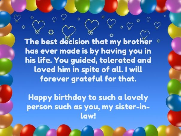 36 best birthday wishes for sister in law pictures images on top birthday quotes for sister law with images happy wishes funny cards and bookmarktalkfo Images