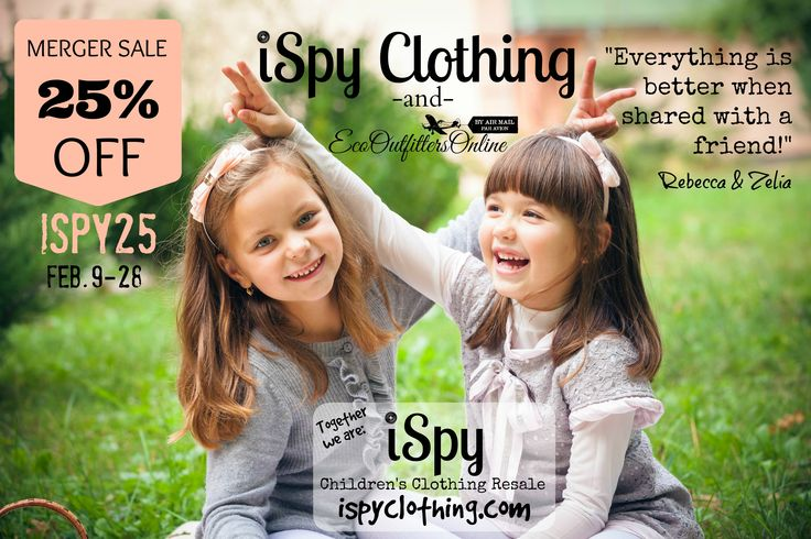 25% OFF everything at www.iSpyClothing.com with #coupon code ISPY25 Feb. 9-28, 2015.  Flat-fee shipping across Canada & U.S.