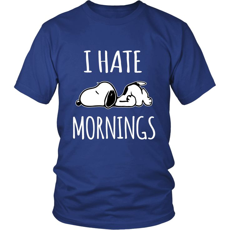 I Hate Morning Snoopy Shirts