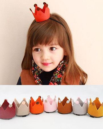 mini felt crowns