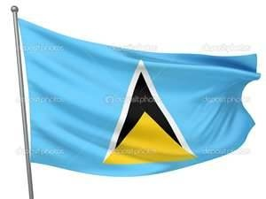 St Lucia Flag - Bing Images