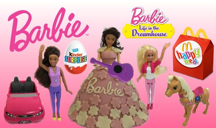 2015 McDonalds Barbie Life In The Dreamhouse Happy Meal Toys ft Barbie G...