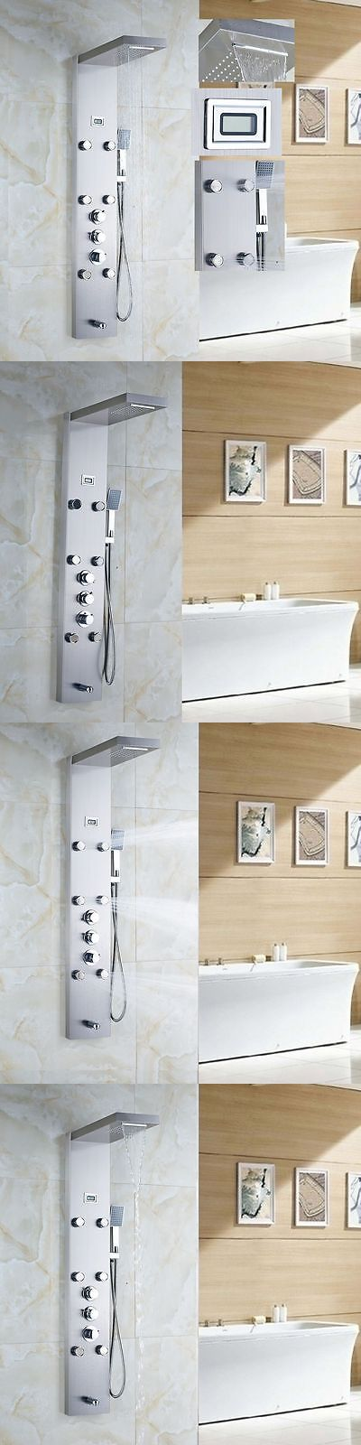 Massagers: Thermostatic Waterfall Rain Shower Panel Massage Jets Tub Spout Hand Shower Tap -> BUY IT NOW ONLY: $175 on eBay!