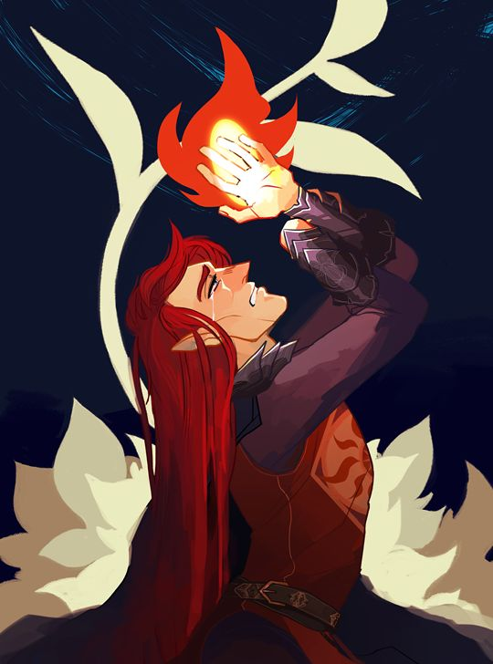 oceanwrath: But the jewel burned the hand of Maedhros in pain unbearable; and he perceived that it was as Eönwë had said, and that his right thereto had become void, and that the oath was vain. guess my favorite theme of the silmarillion