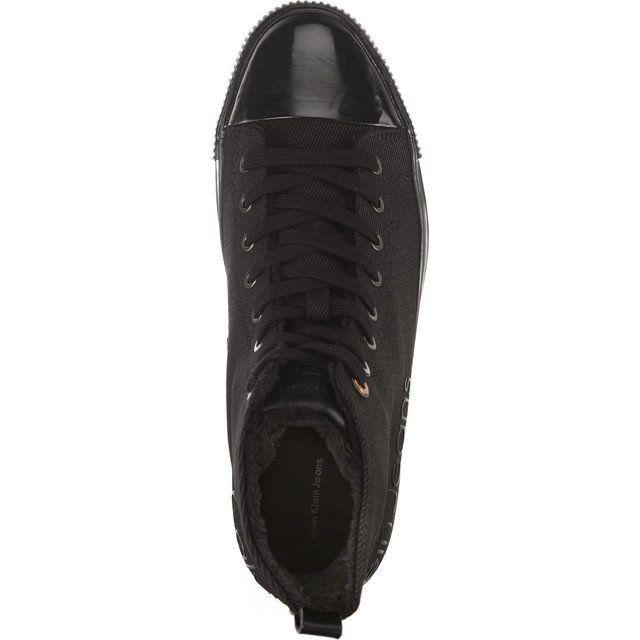 Trampki Meskie Calvinkleinjeans Calvin Klein Jeans Czarne Aron Waxy Twill Blk All Black Sneakers Black Sneaker Sneakers