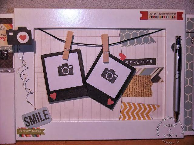 Hobby di Carta - Il blog: HOME DECOR: ..una cornicetta.. un calendario.. un notes.. per una scrivania! - Manu Arte&Cuore