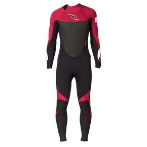 Rip Curl Dawn Patrol 5/3mm Back Zip Wetsuit - Red   Free UK Delivery