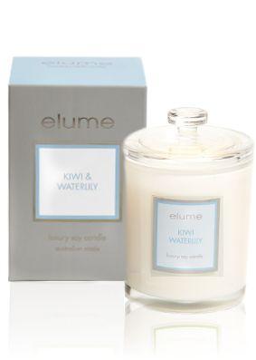 Elume Luxury Kiwi and Waterlily Candle
