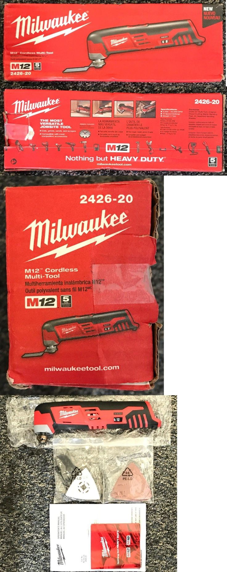 Multi-Tools 46459: Milwaukee 2426-20 M12 Cordless Multi-Tool (Tool Only) - Brand New!!! -> BUY IT NOW ONLY: $49.99 on eBay!