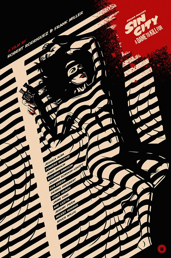 SIN CITY: A DAME TO KILL FOR Movie Poster on Behance