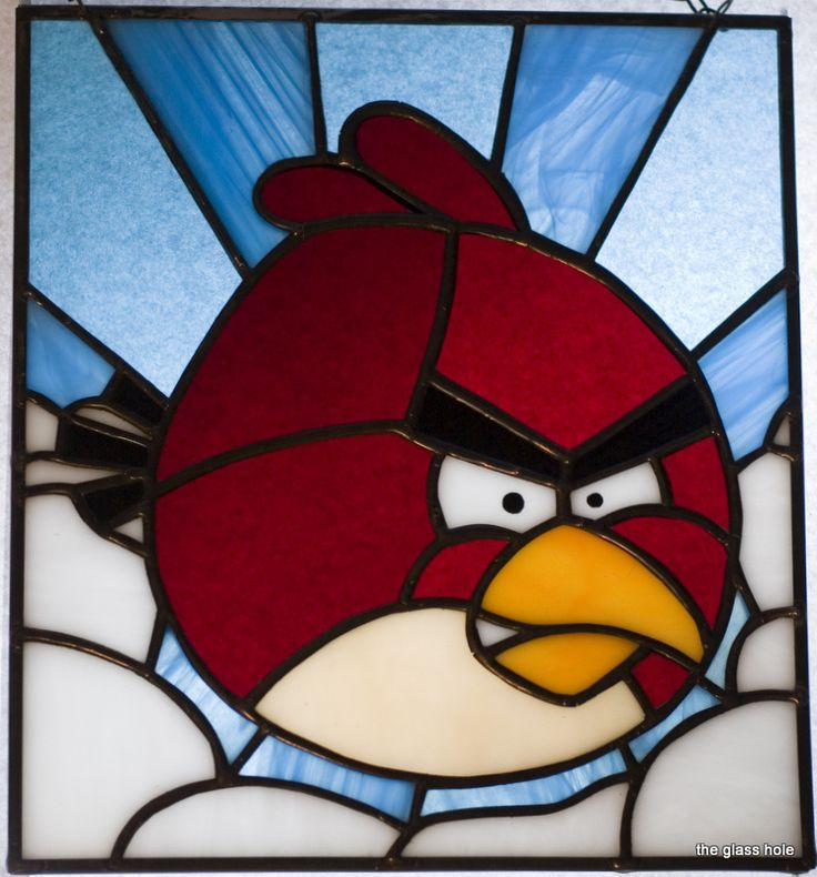 stained glass red bird | Angry Birds: the Red Bird