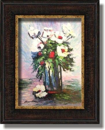 tablouri picturi in ulei flori vas cu flori 082