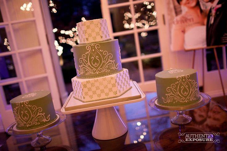 trio of wedding cakes. Cheesecake Etc.
