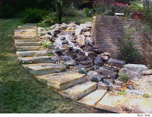 diy water features | Another pondless waterfall.