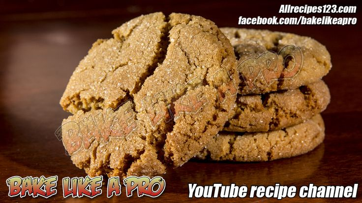 SOFT Sugar Top Gingerbread Crackle Cookies Recipe - CLICK image to see the full video recipe