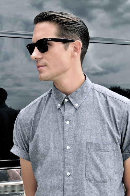 ray ban original wayfarer mens sunglasses  the sixty's influenced roll up short sleeve shirts look a perfect companion to these ray. style shorthair cutrayban sunglassessunglasses
