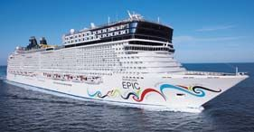 "Norwegian Epic  Norwegian Cruise Line's newest, largest and most innovative cruise ship ever. Voted ""Best Cruise Ship"" by Travel Weekly in 2011  www.herrickstravelamex.com"