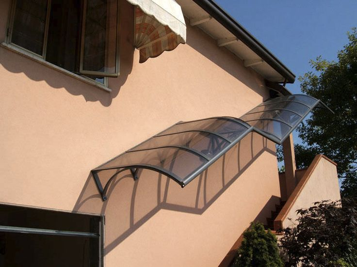 Best Exterior Staircase Canopy Aluminum Glass Cover 640 x 480