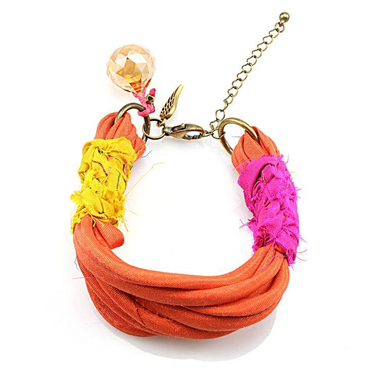 Boho colorful bracelet, Bohemian style bracelet, Hippie chic bracelet