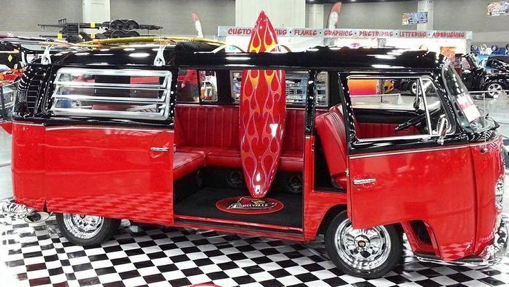 Red & Black VW Bus at Carl Casper in Louisville, KY ...