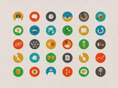 Matt Lawson - Dognition icons repinned by Awake — http://designedbyawake.com #icon #pictogram #graphic #design #illustration #minimal