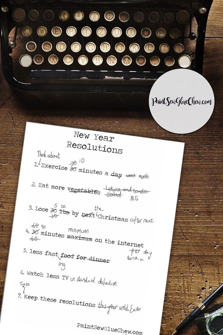 New Year Resolutions – That You May Actually Keep