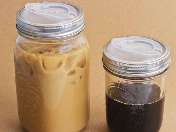 Cuppow - Regular Mouth Lid for Mason Jars with Straw-Tek http://www.thegrommet.com/kitchen-bar/mason-jar-lid-by-cuppow