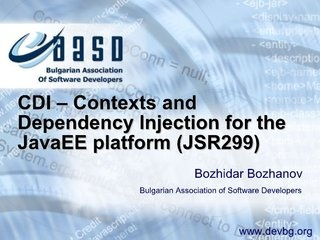 contexts-and-dependency-injection-for-the-javaee-platform by Bozhidar Bozhanov via Slideshare