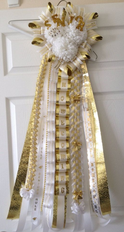 Triple Senior Homecoming Mum Gold Ready To Ship by ...