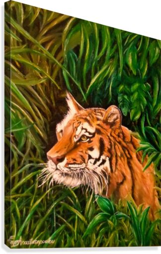 green, living room decor, tiger, wildlife, wild, animal, jungle