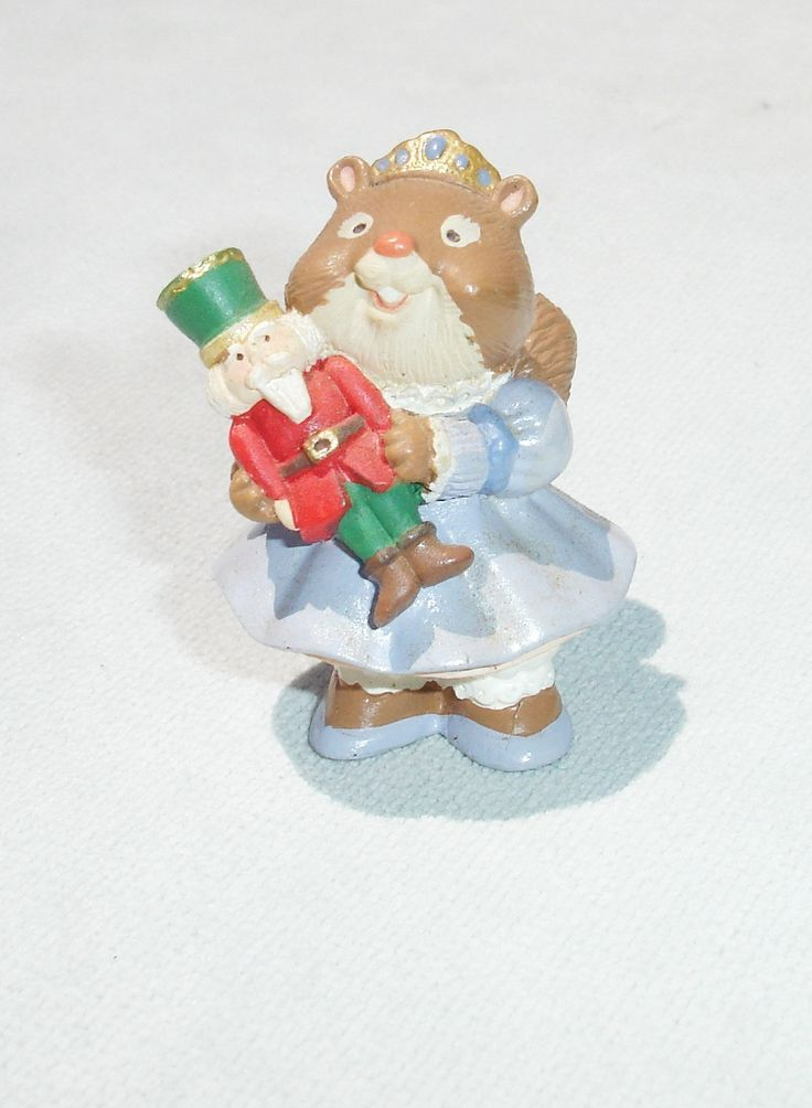 1995 Cute Animal with Toy Soldier Merry Miniature - Hallmark Greeting Card Collectible