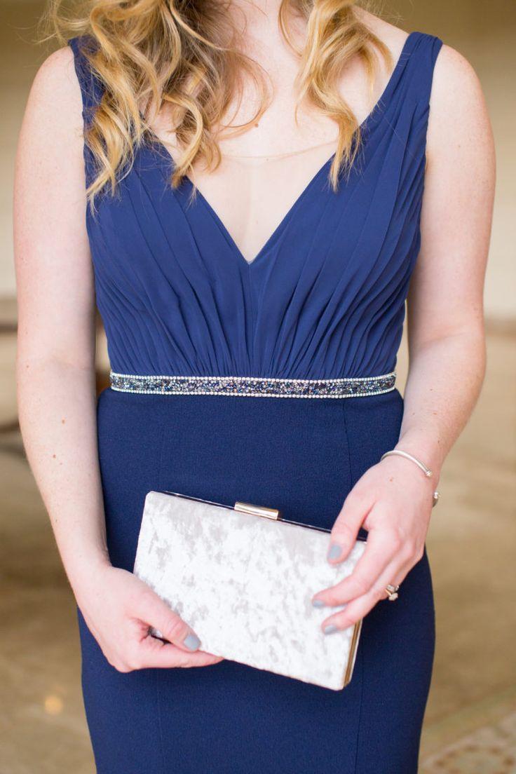 Chic Navy Gown // Black Tie Wedding Guest Attire