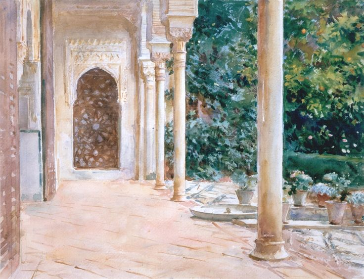 John Singer Sargent, Loggia, View at the Generalife, c. 1912