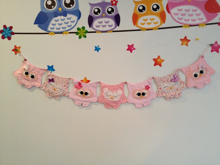 Hoot bunting all pink and cute xx