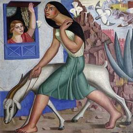 maruja Mallo.Mujer de la cabra