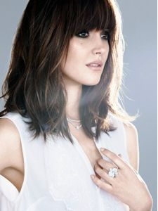 shoulder length hair with blunt bangs - Google Search