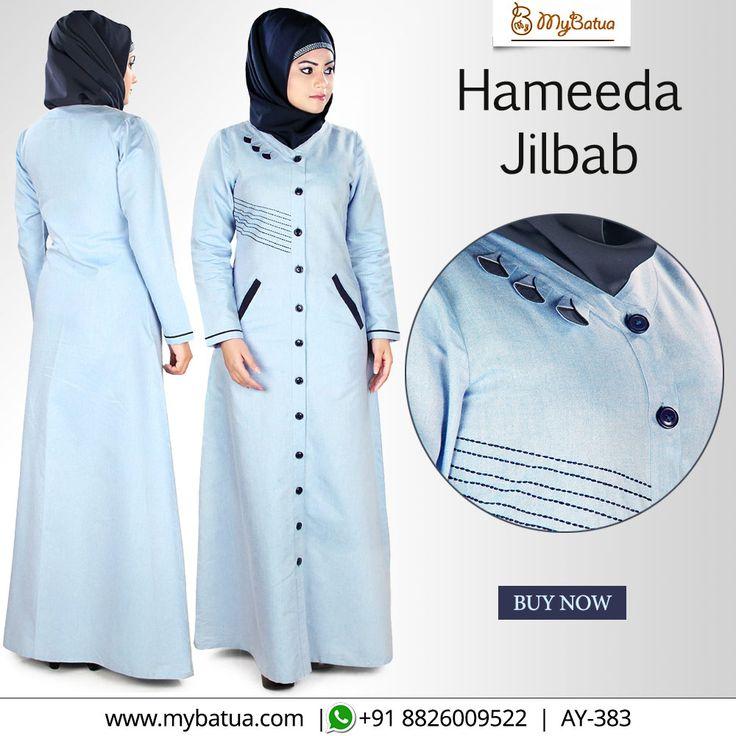 Best formal wear that looks traditional and stylish with front open. The jilbab is made of cotton that ensures full comfort.   #hameedajilbab #jilbab #openjilbab #dubaijilbab #jilbabalila #jilbabinstant #jilbabmodern #cotton #abaya #fashion #muslimwear #style #clothing #picofday #summercollection #mybinsta #sisterhood #modestfashion #womenclothing #ootd #yaz #islamicclothing #womendress #instafashion #hijabfashion #modesty #fallstyle #modestwear