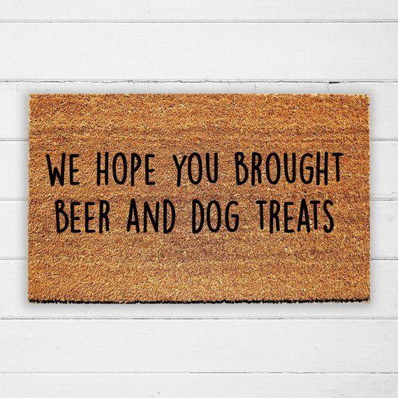 Bunch Of Dogs Custom Doormat Rug Hope You Like Dogs Funny Welcome Mat Cute Door Mat Hope You Brought Pizza And Dog Treats Doormat