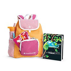 American Girl® Accessories: School Backpack Set $28.  I have 2 dolls so I'd like 2 backpacks please.