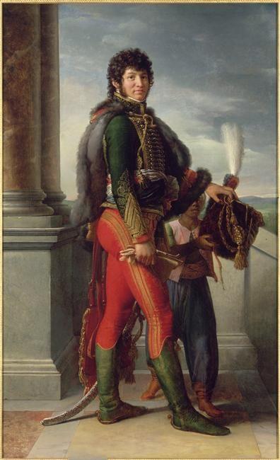 Réunion des musées nationaux Joachim Murat (1767-1815), représenté en uniforme de hussard Alors général de division de cavalerie, commandant la Garde des Consuls et gouverneur militaire de Paris 1801 Gerard