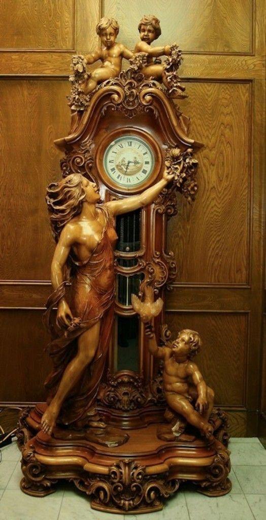 Reloj de Péndulo de Amor Eterno de más de 100 años -  Italia