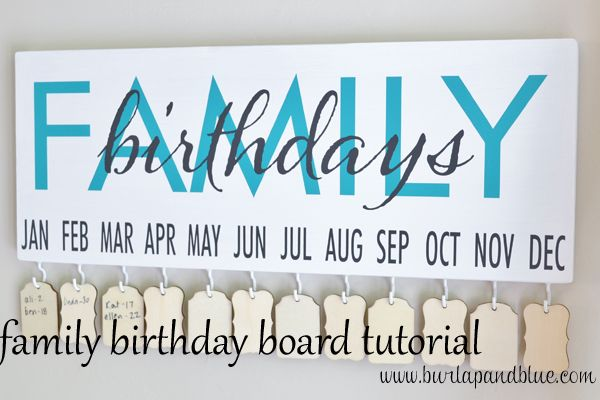 family birthday tutorial   handy that you don't have to restring a whole month when there's an addition to the family