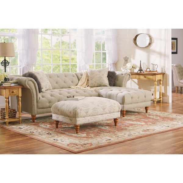 Fallon 103  Right-Facing Tufted Sectional Sofa   Joss u0026 Main  sc 1 st  Pinterest : joss and main sectional - Sectionals, Sofas & Couches