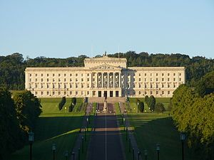 Stormont - great white mansion in Belfast where North Ireland Assembly sits