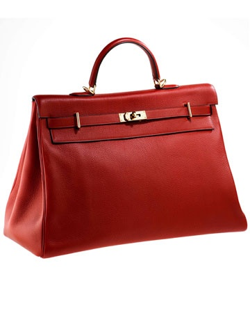 Love the color and the 50s feel of this bag!