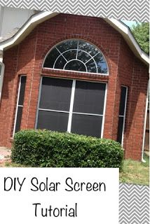 Cupcakes and Curls: DIY Solar Screen Tutorial